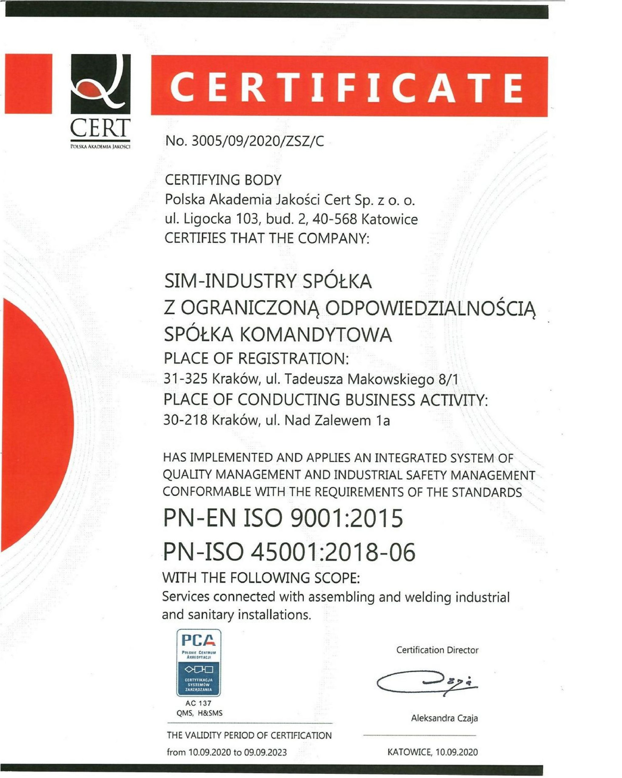 ISO CERT ENGLISH page 001 scaled