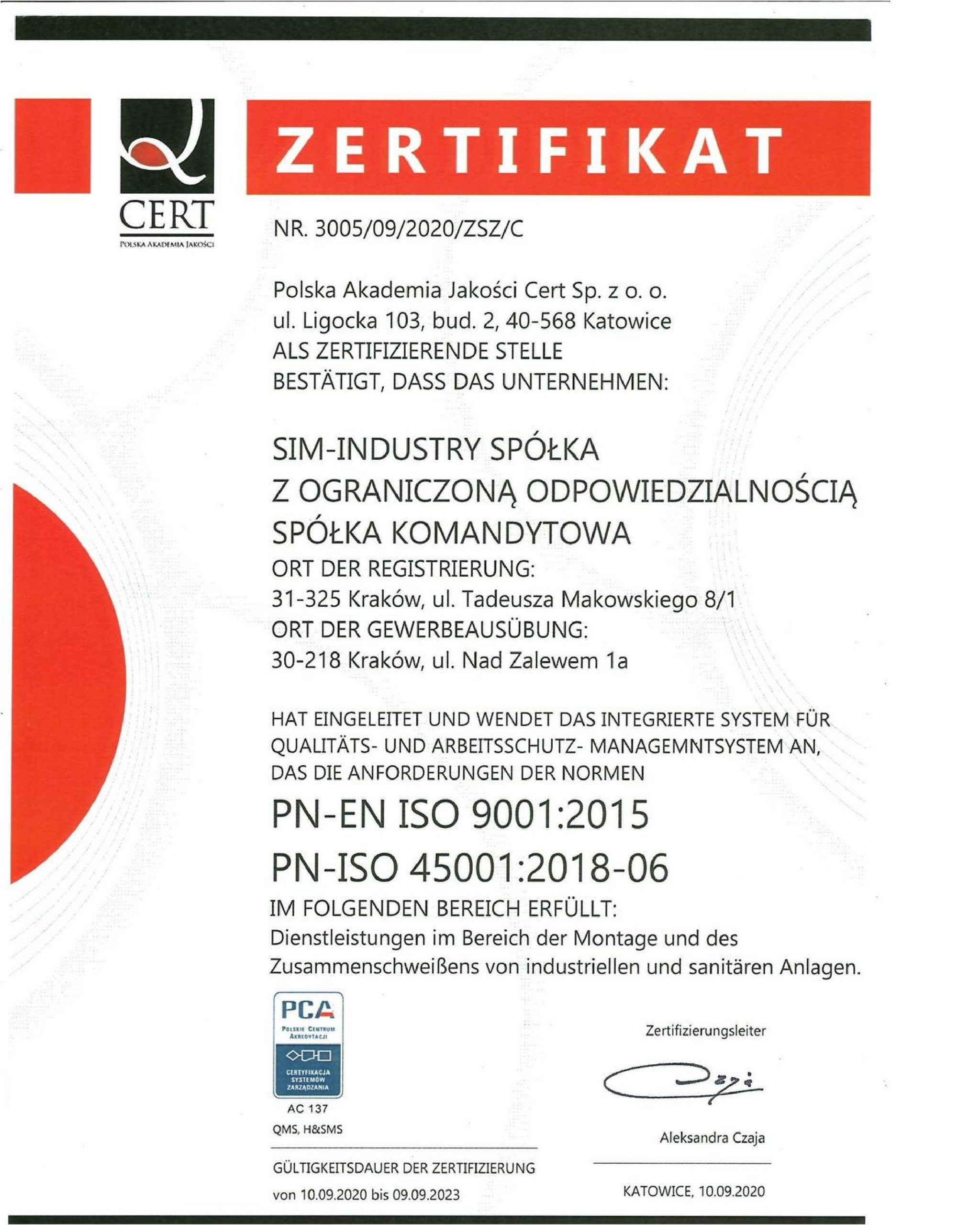 ISO CERT GERMAN page 001 scaled