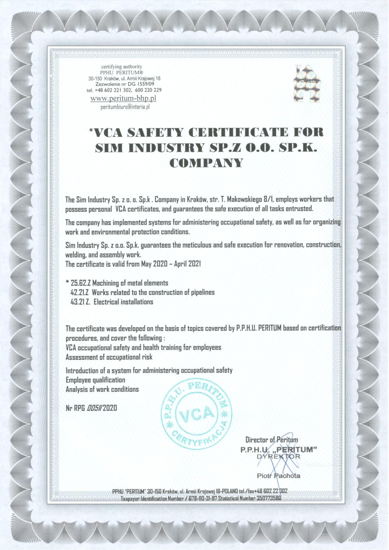 VCA Firmy page 001